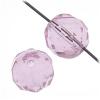 Fire polished 10mm Natural Pink Strung